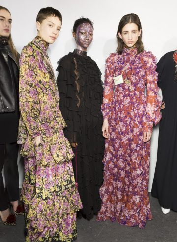 Giambattista Valli Fall 2018 Fashion Show Backstage