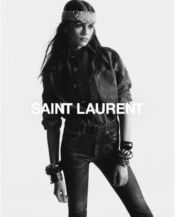 Kaia-Gerber-Saint-Laurent-Fall-2018-Campaign-the-impression-1
