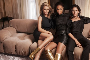 Jimmy Choo Fall 2018 Ad Campaign Joan Smalls, Lily Aldridge & Rosie Huntington-Whiteley