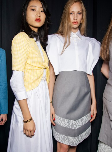 Calvin Luo Spring 2019 Fashion Show Backstage
