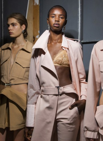 Dion Lee Spring 2019 Fashion Show Backstage