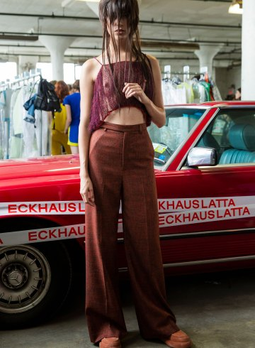Eckhaus Latta Spring 2019 Fashion Show Backstage