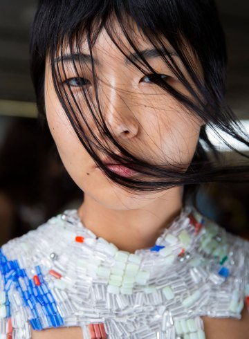 Eckhaus Latta Spring 2019 Fashion Show Backstage Beauty