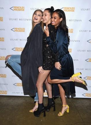 Gigi Hadid, Bella Hadid, Joan Smalls