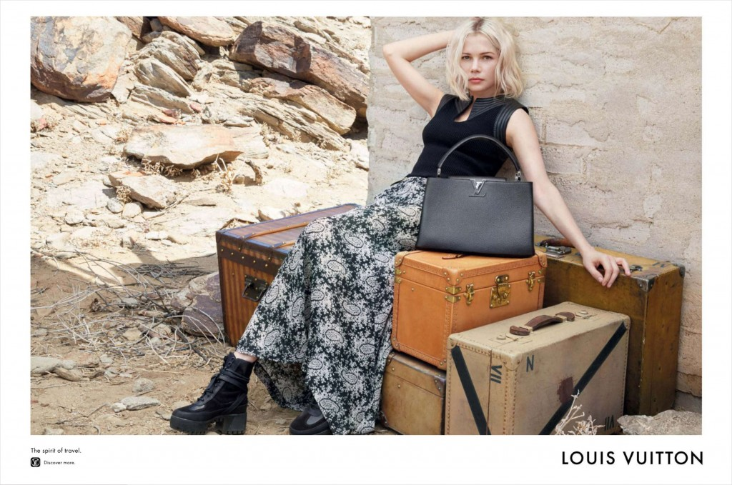 ALICIA VIKANDER and MICHELLE WILLIAMS louis vuitton resort 2016 photo