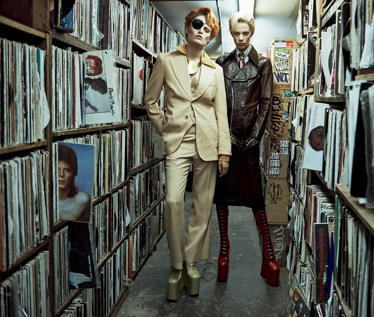 THE BASEMENT DAVID BOWIE | Hanne Gaby Odiele & Lexi Boling