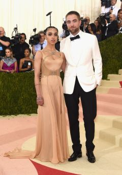 FKA Twigs in Versace and Robert Pattinson
