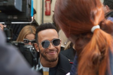 Lewis Hamilton at John Galliano