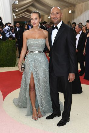 Hannah Davis in Zuhair Murad Haute Couture and Cartier with Derek Jeter