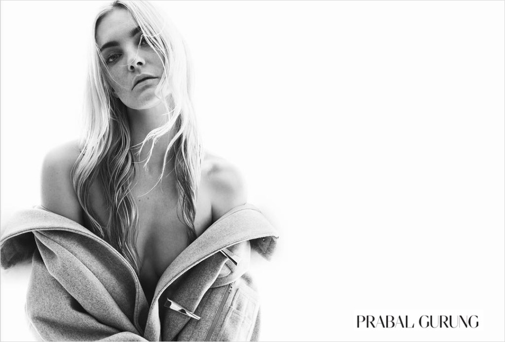 Prabal Gurung fall 2015 ad campaign Caroline Trentini photo