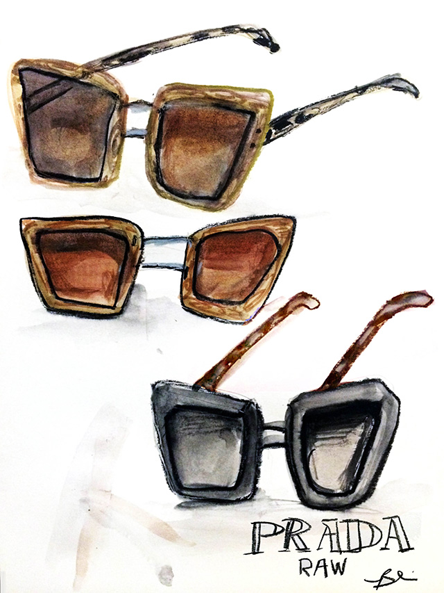prada raw sunglasses illustration Blair Breitenstein