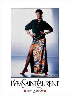 Yves Saint Laurent Rive Gauche FW 1989