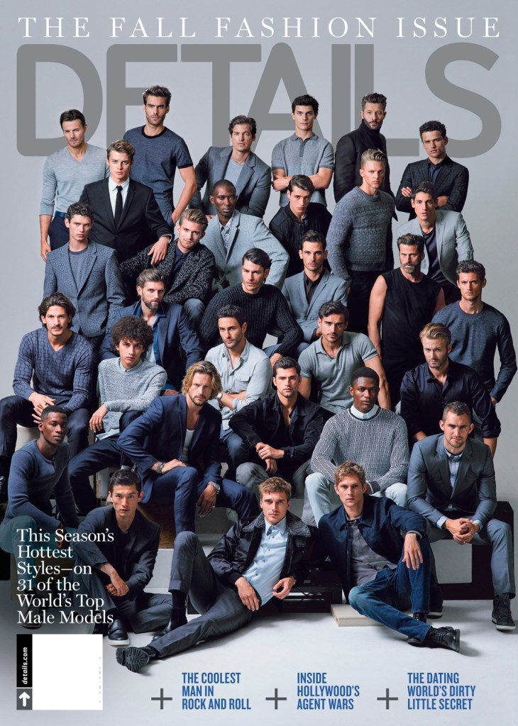 Calvin Klein Details September 2015 magazine cover photo with 31 models