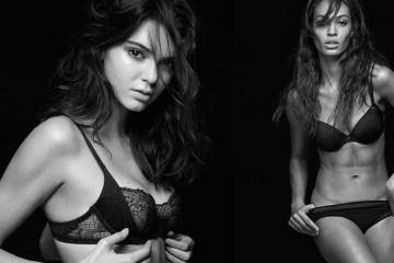 Calvin Klein underwear kendall jenner joan smalls fall 2015 ads photo