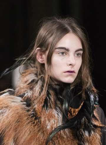 Ann Demeulemeester Fall 2017 Fashion Show Beauty