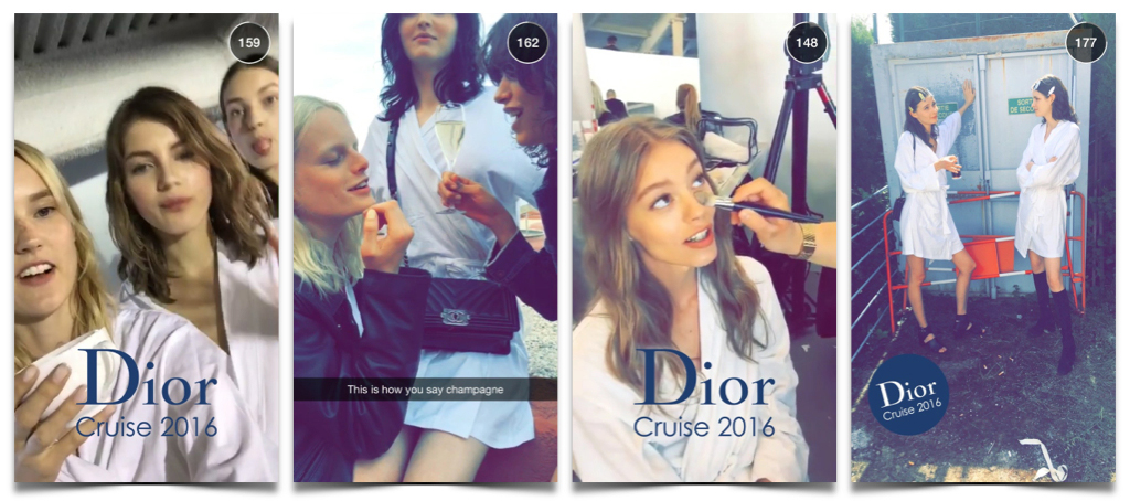 Christian Dior cruise show snapchat-3