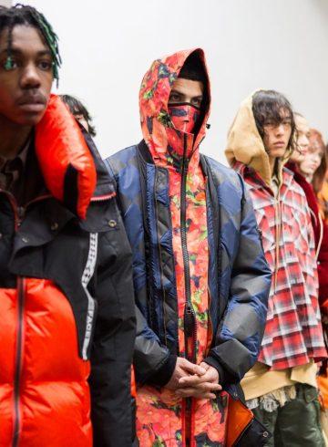 Facetasm Fall 2017 Menswear Fashion Show Backstage
