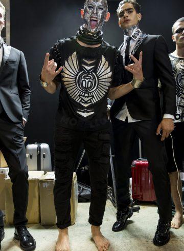 Frankie Morello Spring 2018 Men's Fashion Show Backstage