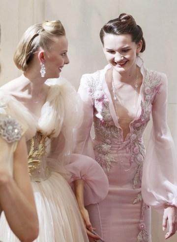 Guo Pei Fall 2017 Couture Fashion Show Backstage