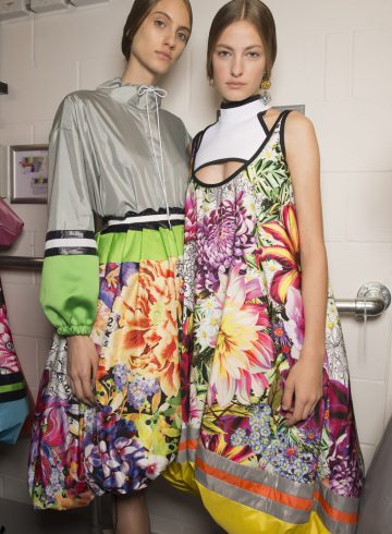 Mary Katrantzou Spring 2018 Fashion Show Backstage