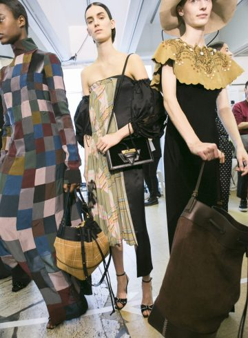 Loewe Fall 2017 Fashion Show Backstage