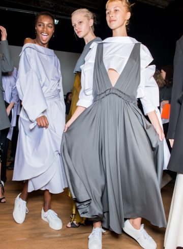 Milly Fall 2017 Fashion Show Backstage