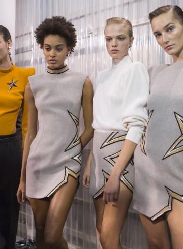 Mugler Fall 2017 Fashion Show Backstage