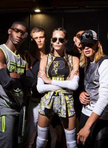 Plein Sport Spring 2018 Fashion Show Backstage