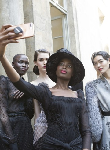 Ulyana Sergeenk Fall 2017 Couture Fashion Show Backstage