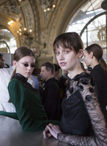 Olivier Theyskens Fall 2017 Fashion Show Backstage