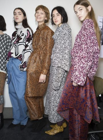 Christian Wijnants Fall 2017 Fashion Show Backstage