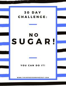 no sugar challenge flyer