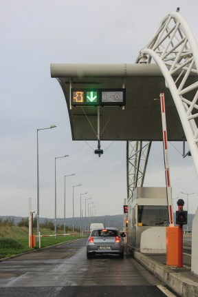 Toll Booth with Operator - See the little Orange Person at the top left?