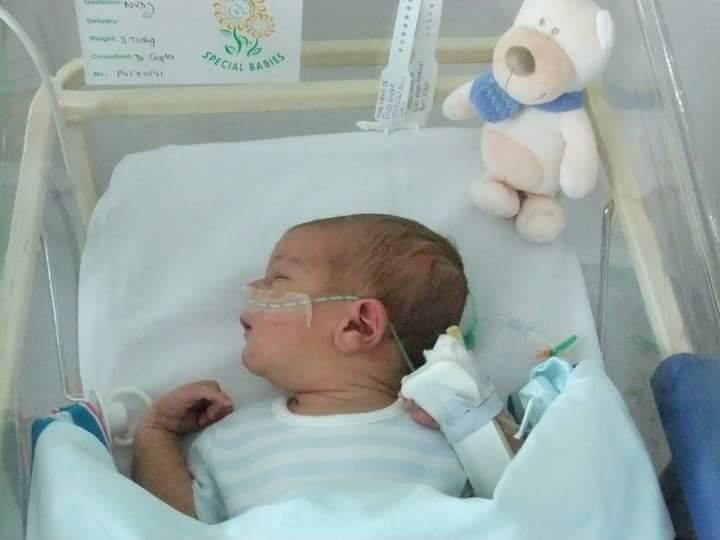 Baby in SCBU