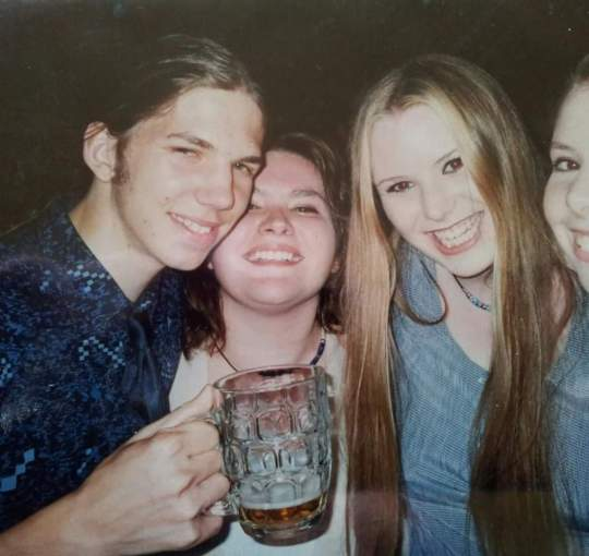 Me, aged 17 second from the left