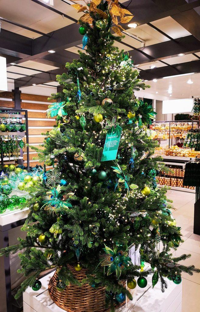 john lewis christmas shop, peacock christmas decorations