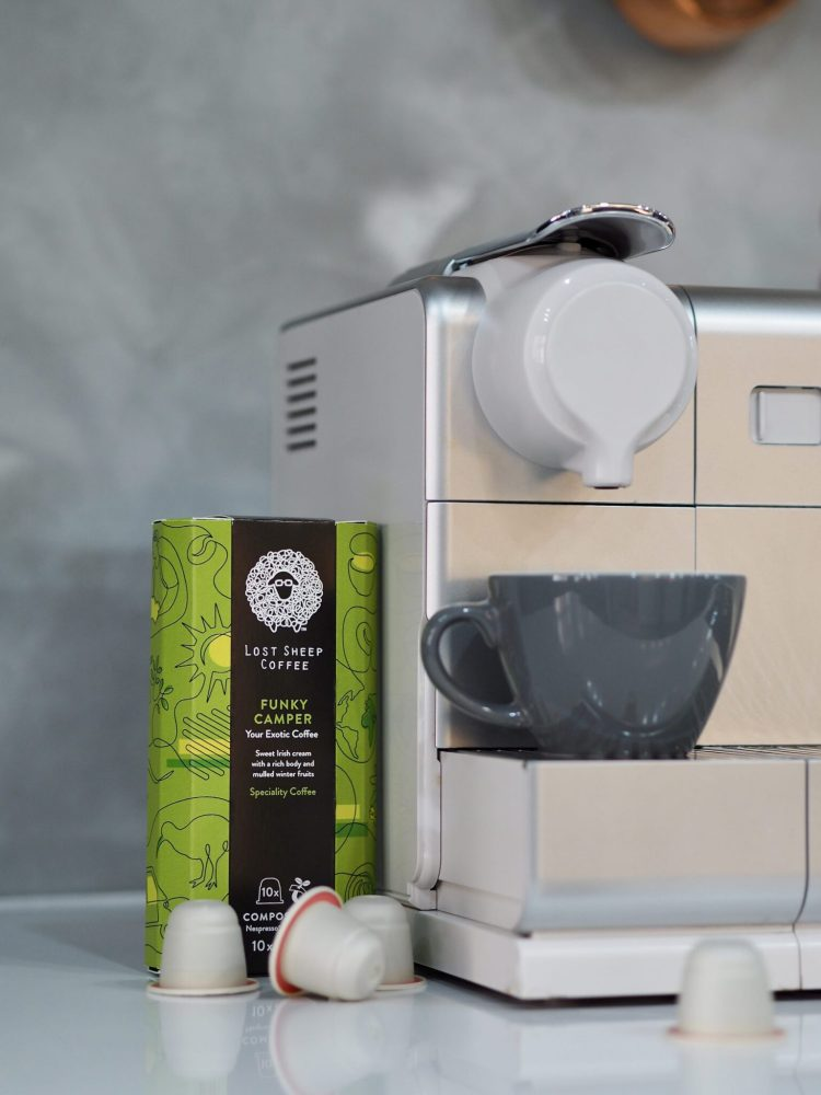 Kent coffee, whitstable, kent, nespresso, compostible pods, biodegradable, eco friendly coffee