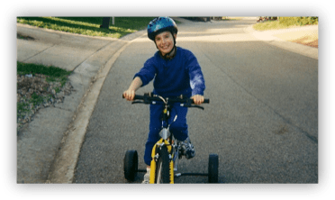 The Inclusion Club—Episode27: Matthew and his bike, wearing his helmet