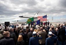 Space Shuttle Enterprise Arrives in New York