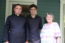 Pope Michael with his mother and Adam