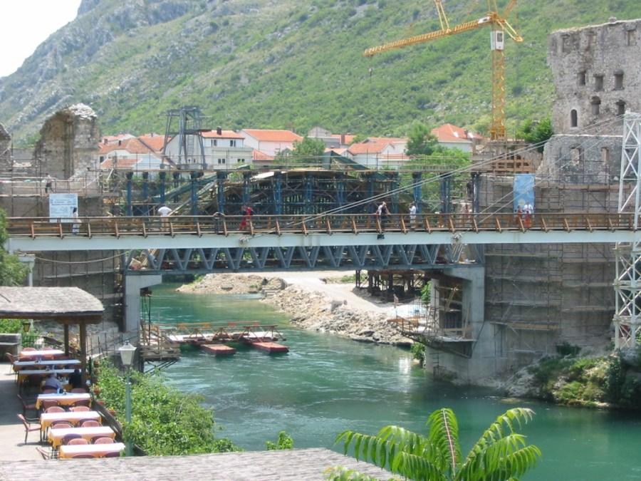 Old Bridge reconstruction in 2003, Mostar, Bosnia