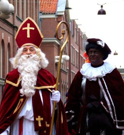 Sinter Klaas and Zwarte Piet in Amsterdam