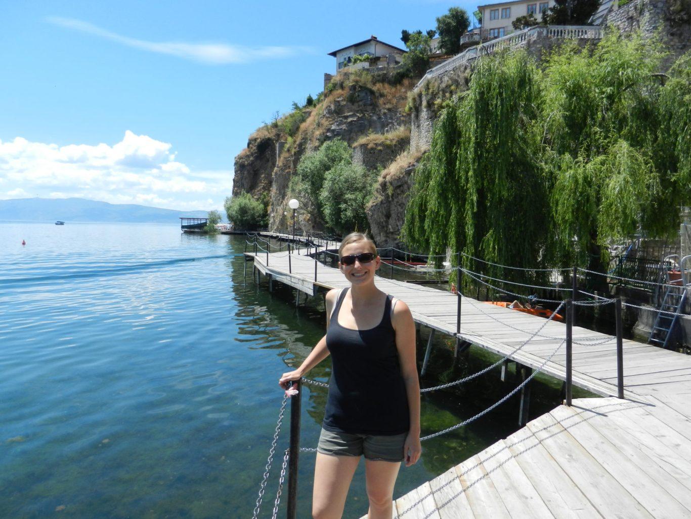 Waterfront walkways in Ohrid, Macedonia