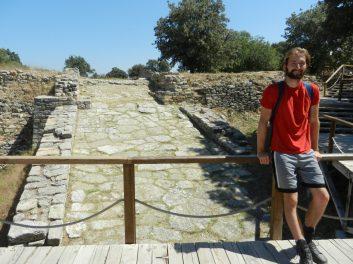 Stone ramp into Troy