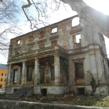 Ruined Building, Mostar, Bosnia