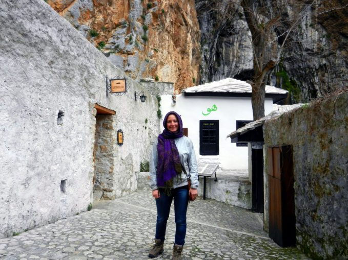 Ashleigh, Dervish Monastery, Blagaj, Bosnia and Herzegovina