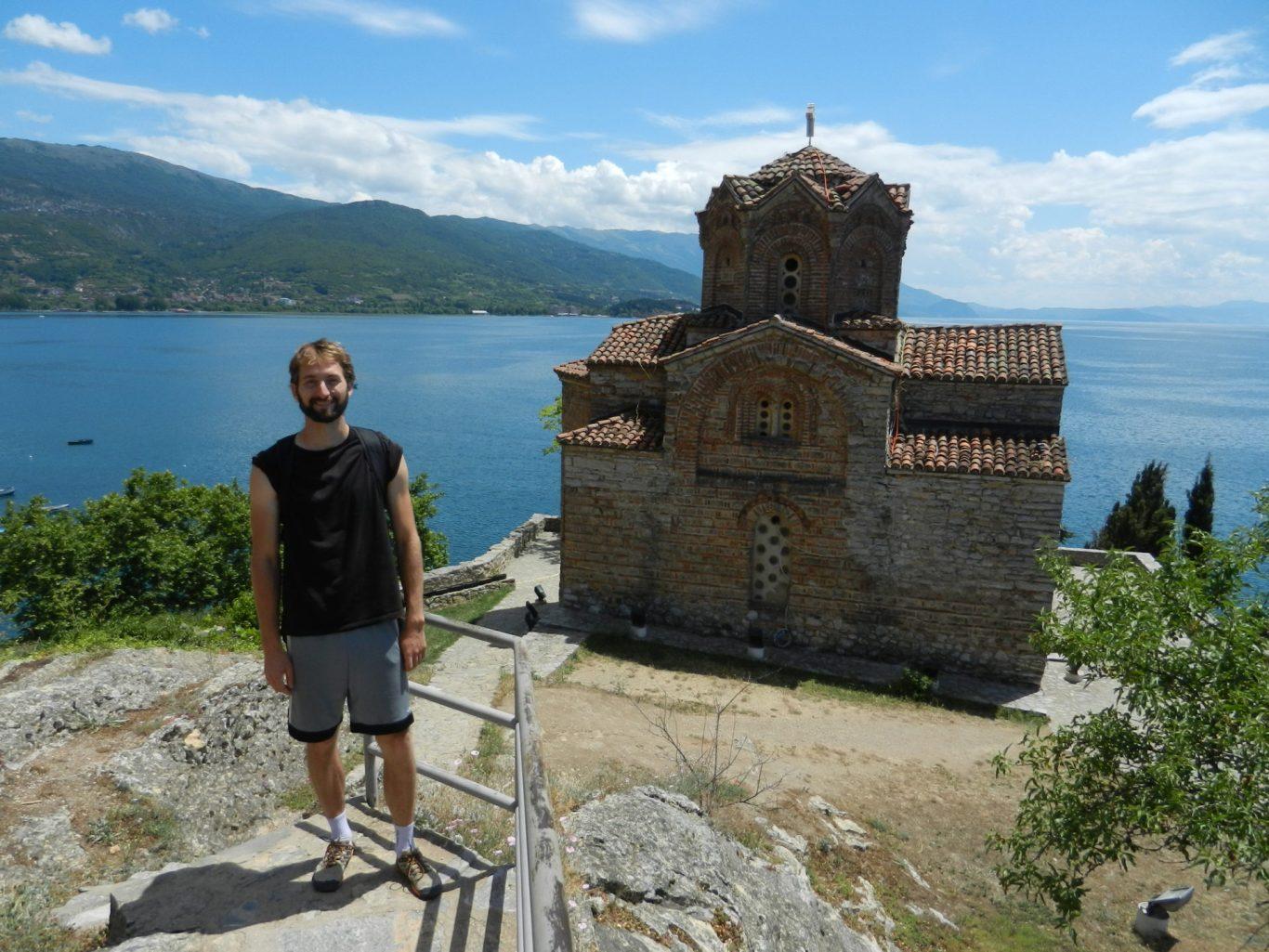 Nathanael and Church of St. John at Kaneo, Ohrid, Macedonia