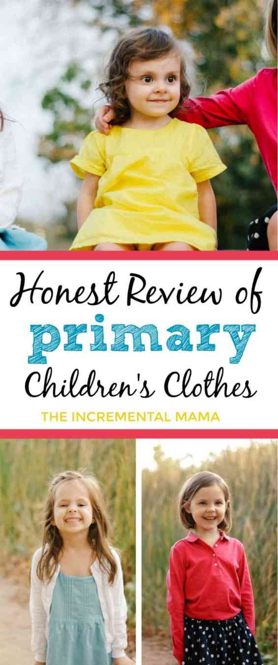 Review of Primary.com kid's clothes.