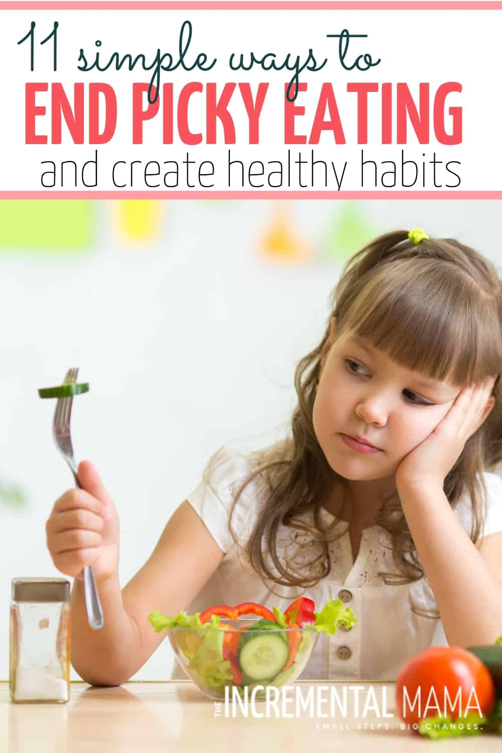Stop mealtime battles & end picky eating with these 11 tips and ideas for teaching your picky eaters healthy habits! (#1 and #2 have changed my life!) #getpickyeaterstoeat #endpickyeating