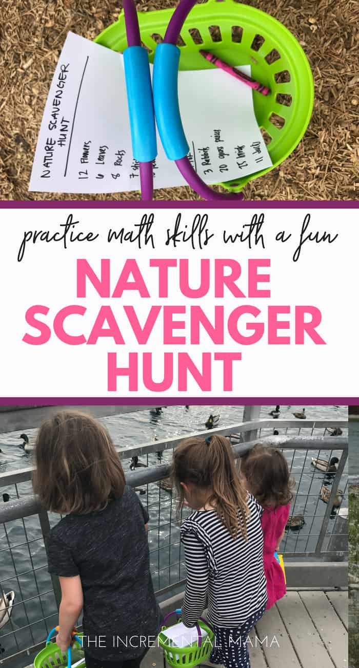 Fun & Easy Nature Scavenger Hunt Preschool Math Activity